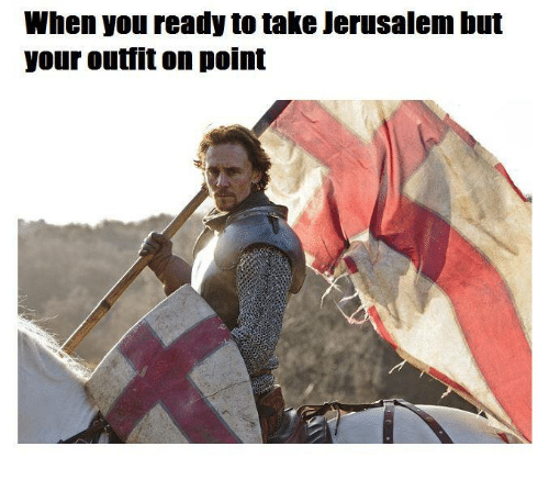 When You Ready To Take Jerusalem But Your Outfit On Point Tough