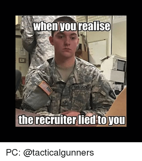 When You Realise uS the Recruiter Lied to You PC | Meme on ME ME
