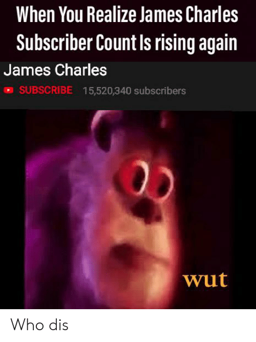 When You Realize James Charles Subscriber Count Is Rising Again