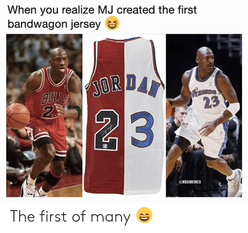 premium selection 0d5da 3fff7 When You Realize MJ Created the First Bandwagon Jersey ...