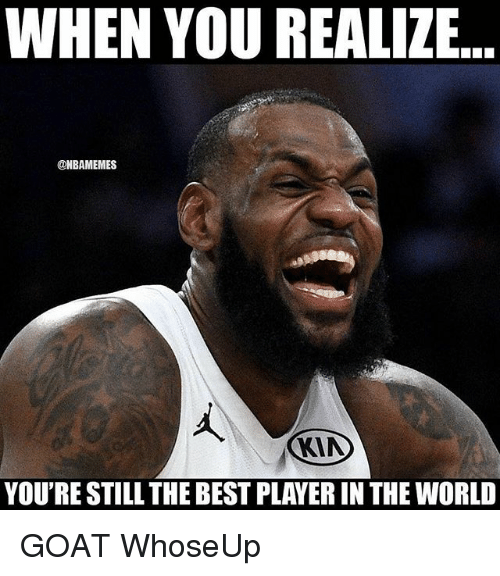 Nba, Goat, and Best: WHEN YOU REALIZE.  @NBAMEMES  YOU'RE STILL THE BEST PLAYER IN THE WORLD GOAT WhoseUp