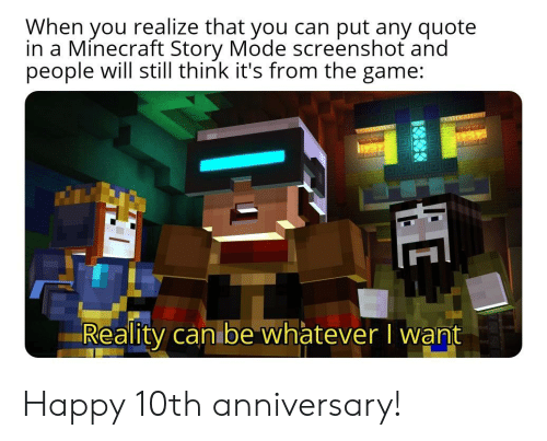 When You Realize That You Can Put Any Quote In A Minecraft