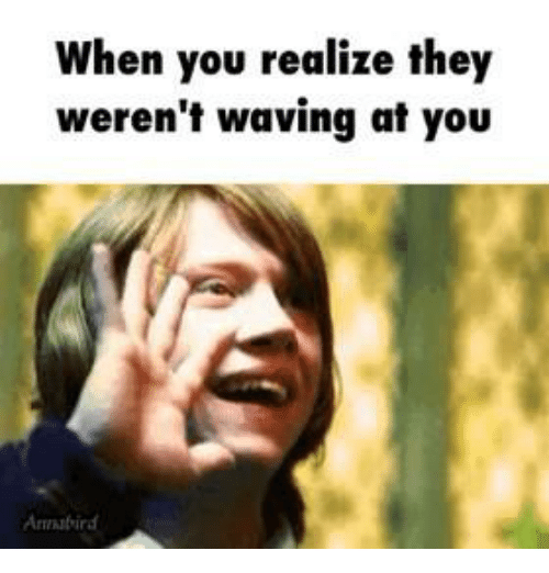 Waves, Girl Memes, and Wave: when you realize they  weren't waving at you