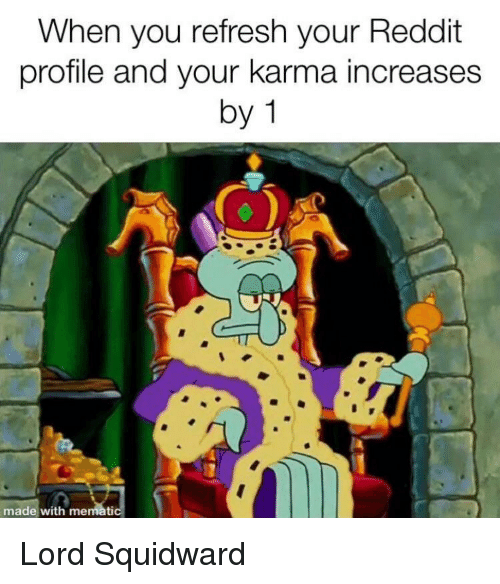 When You Refresh Your Reddit Profile and Your Karma