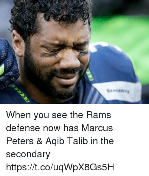Nfl, Rams, and Aqib Talib: When you see the Rams defense now has Marcus Peters & Aqib Talib in the secondary https://t.co/uqWpX8Gs5H