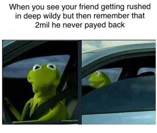 Never, Back, and Deep: When you see your friend getting rushed  in deep wildy but then remember that  2mil he never payed back