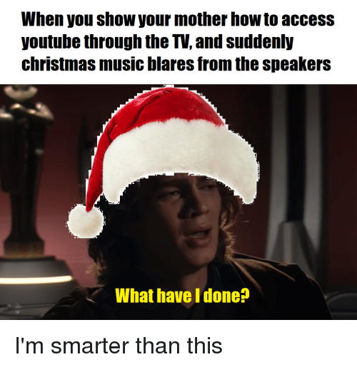 Christmas, Music, and youtube.com: When you show your mother how to