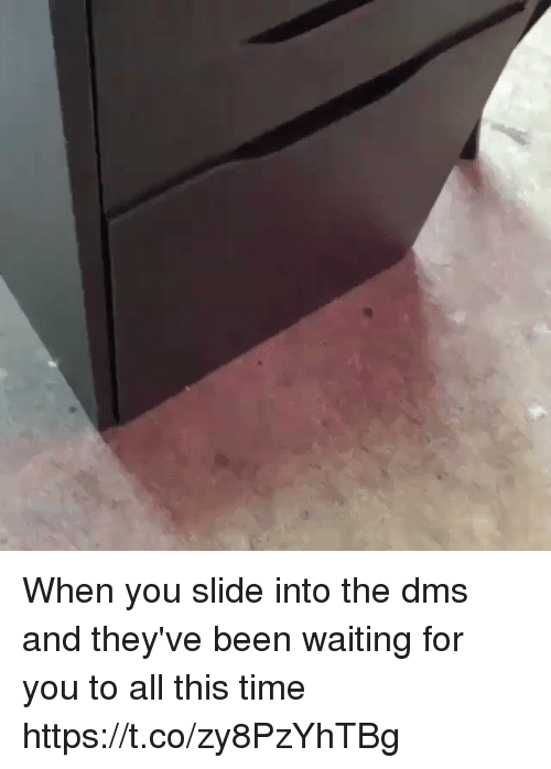 Slide Into the DMs, Time, and Girl Memes: When you slide into the dms and they've been waiting for you to all this time https://t.co/zy8PzYhTBg