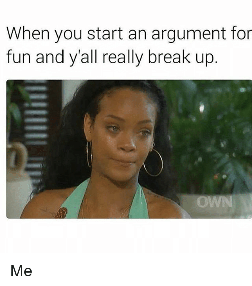 how to start your first argument