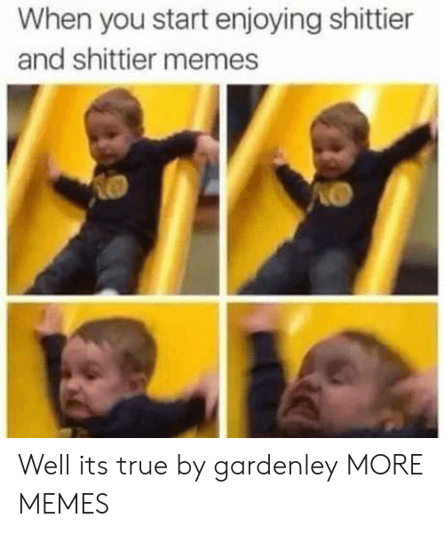 Dank, Memes, and Target: When you start enjoying shittier  and shittier memes Well its true by gardenley MORE MEMES