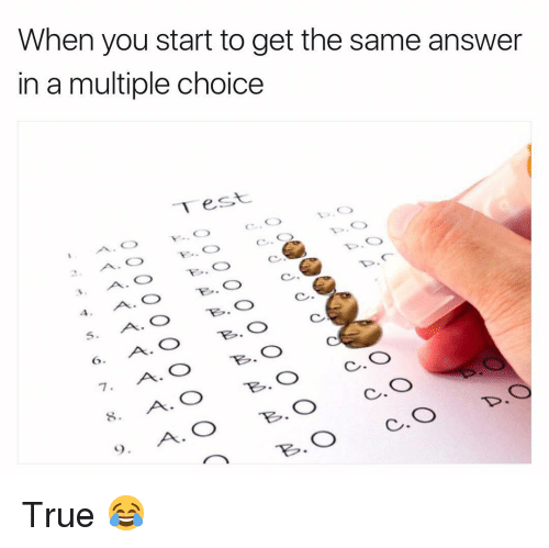 funny multiple choice answers