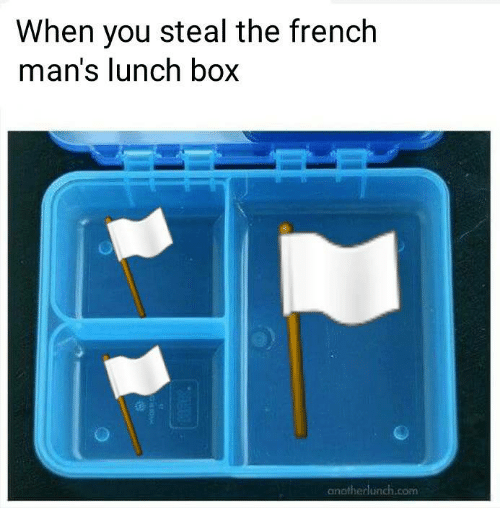 French, Box, and Com: When you steal the french  man's lunch box  anainerhunch.com