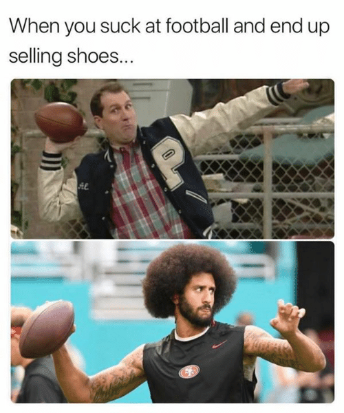 Football, Nfl, and Shoes: When you suck at football and end up  selling shoes...