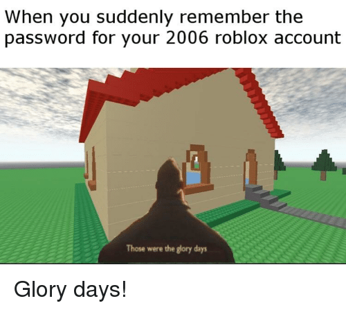 When You Suddenly Remember the Password for Your 2006 Roblox