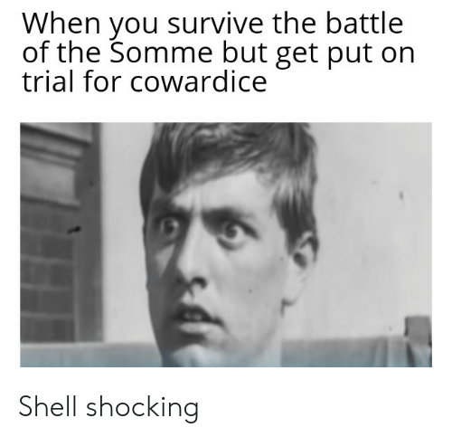 History, Shell, and You: When you survive the battle  of the Somme but get put on  trial for cowardice Shell shocking
