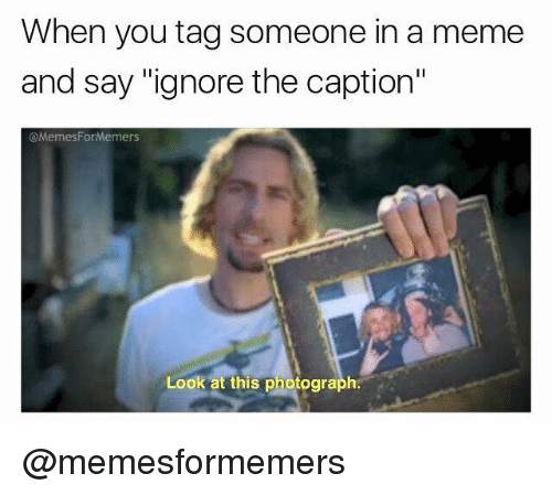 when you tag someone in a meme and say ignore 19191607 ✅ 25 best memes about look at this photograph look at this,Look At This Photograph Meme