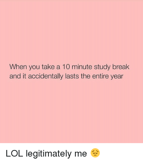 when to take study breaks