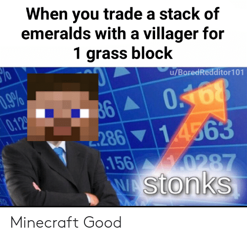 When You Trade A Stack Of Emeralds With A Villager For 1
