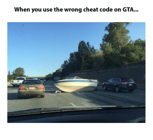 When You Use the Wrong Cheat Code on GTA | Dank Meme on ME ME