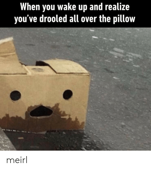 MeIRL, All, and Wake: When you wake up and realize  you've drooled all over the pillow meirl