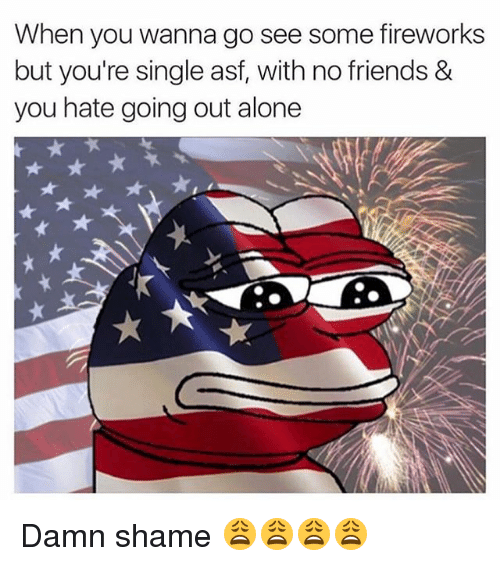 going out alone single