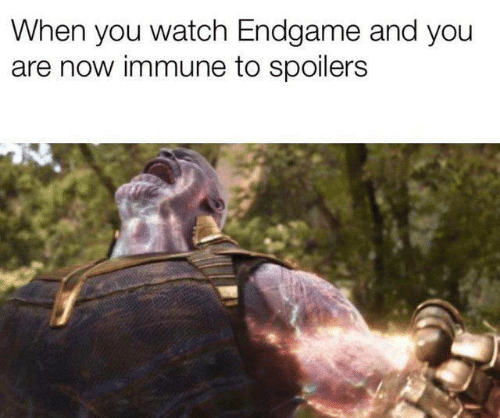 Memes, Watch, and 🤖: When you watch Endgame and you  are now immune to spoilers