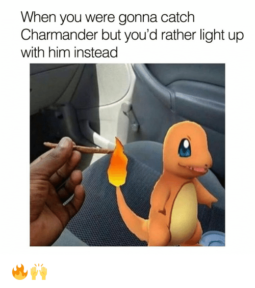 when you were gonna catch charmander but youd rather light 13378861 when you were gonna catch charmander but you'd rather light up,Charmander Meme
