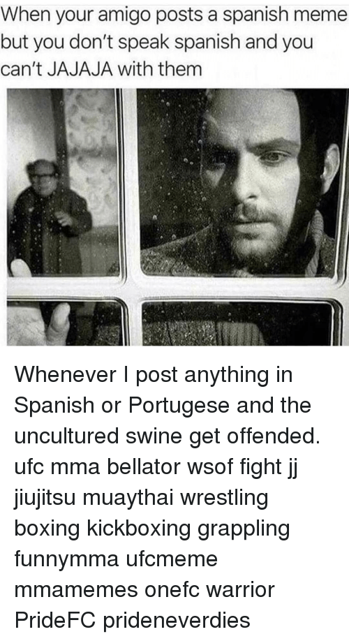 When Your Amigo Posts A Spanish Meme But You Don T Speak Spanish And You Can T Jajaja With Them Whenever I Post Anything In Spanish Or Portugese And The Uncultured Swine Get Offended Translations of the phrase uncultured swine from english to spanish and examples of the use of uncultured swine in a sentence with their translations: meme