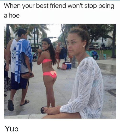 Best Friend, Hoe, and Memes: When your best friend won't stop being  a hoe Yup