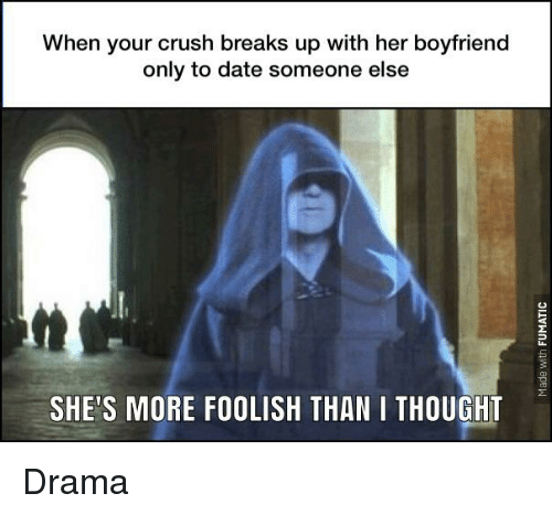 What do you do when your crush is dating someone else