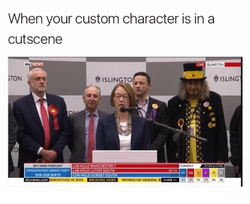 When Your Custom Character Is In A Cutscene