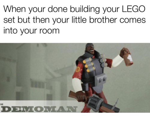 When Your Done Building Your LEGO Set but Then Your Little
