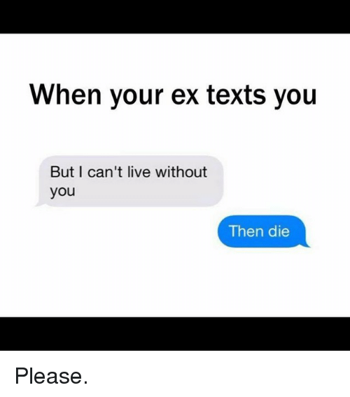 when your ex texts you but i cant live without 2339311 when your ex texts you but i can't live without you then die please