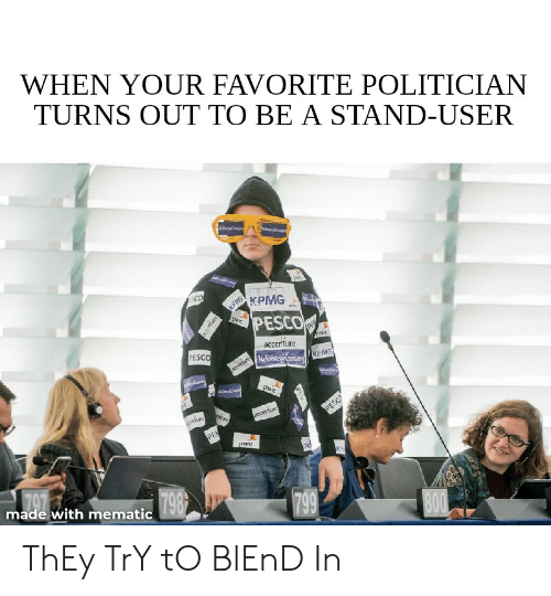 WHEN YOUR FAVORITE POLITICIAN TURNS OUT TO BE a STAND-USER Co KPHG