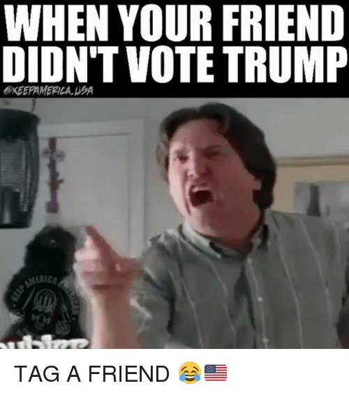 when your friend didnt vote trump keepamerica ea tag a 25416945 ✅ 25 best memes about vote trump vote trump memes