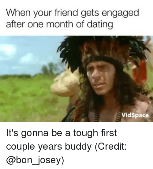 Engaged after one year of dating