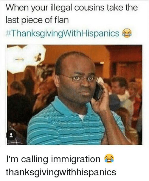 when your illegal cousins take the last piece of flan 1027865 when your illegal cousins take the last piece of flan i'm calling
