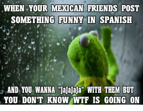 Funny Meme Mexican : When your mexican friends post something funny in spanish and you