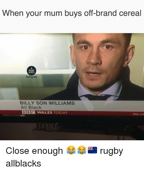 When Your Mum Buys Off-Brand Cereal RUGBY MEMES Instagram