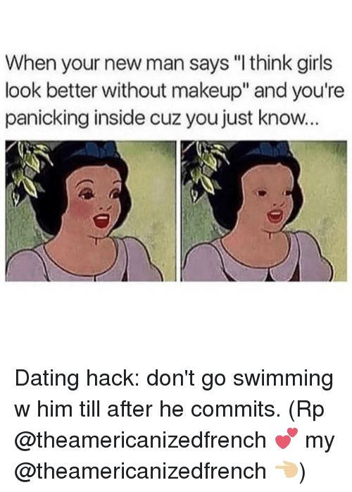 dating without makeup