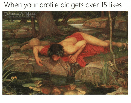 Memes, Classical Art, and Art: When your profile pic gets over 15 likes  LASSICAL ART MEMES  ssicalartmemes
