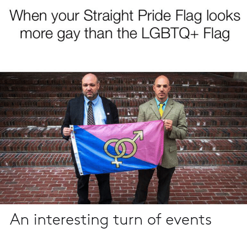 When Your Straight Pride Flag Looks More Gay Than the LGBTQ+