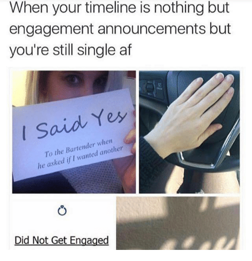 Engagement Announcement: When Your Timeline Is Nothing But Engagement Announcements
