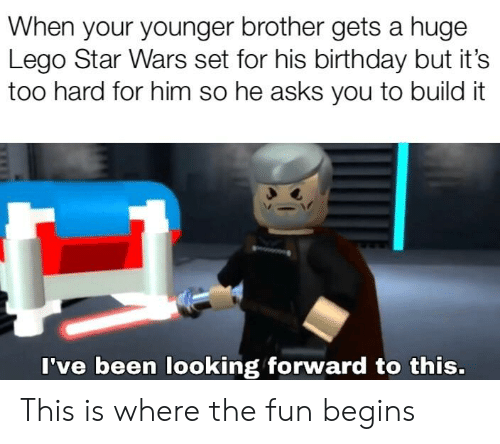 When Your Younger Brother Gets A Huge Lego Star Wars Set For His