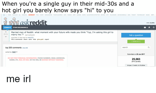 Married man on dating sites reddit