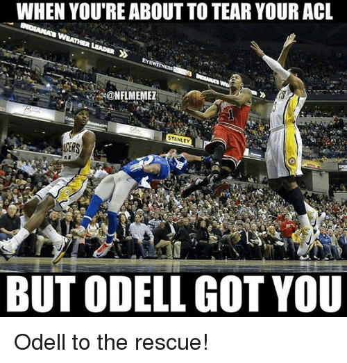 Nfl, Got, and Acl: WHEN YOURE ABOUT TO TEAR YOUR ACL  STANLEY  CERS  BUT ODELL GOT YOU Odell to the rescue!