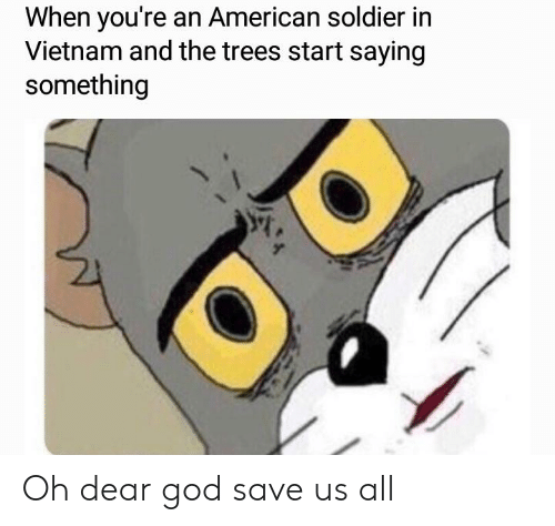 God, Reddit, and American: When you're an American soldier in  Vietnam and the trees start saying  something Oh dear god save us all