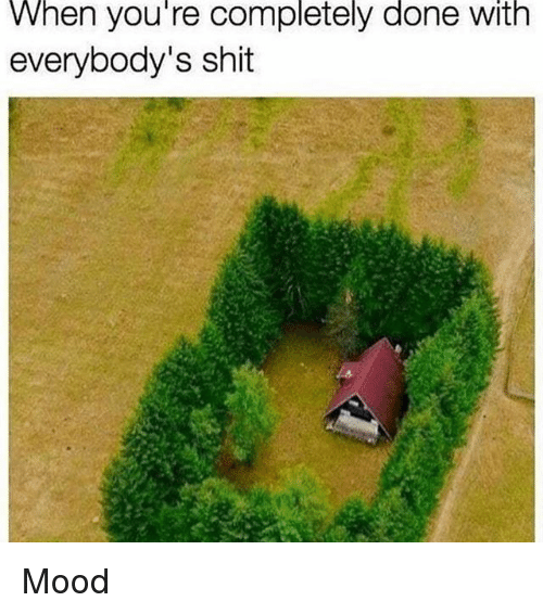 Memes, Mood, and Shit: When you're completely done with  everybody's shit Mood