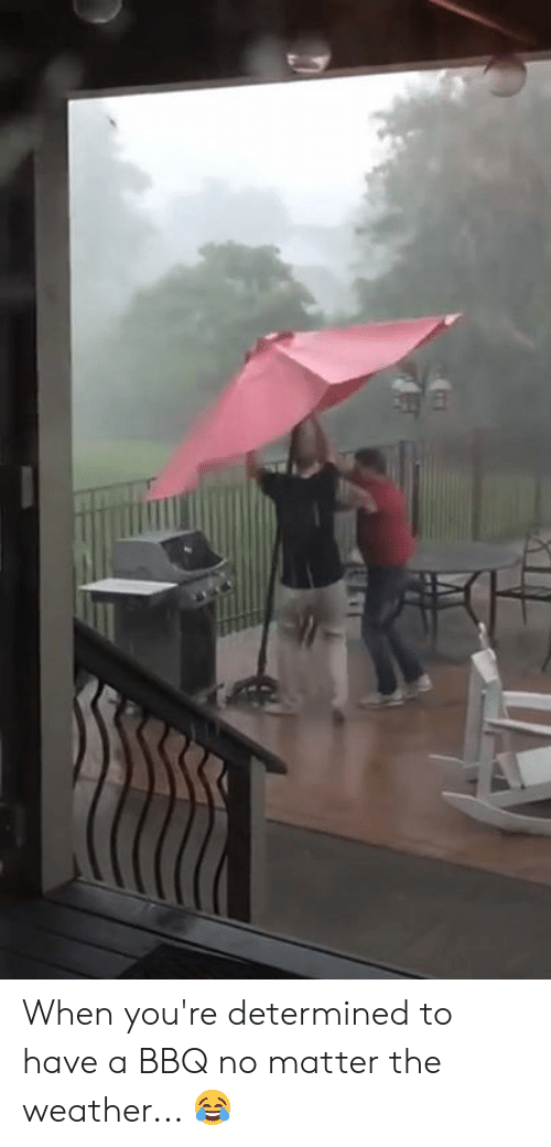 The Weather, Weather, and Youre: When you're determined to have a BBQ no matter the weather... 😂