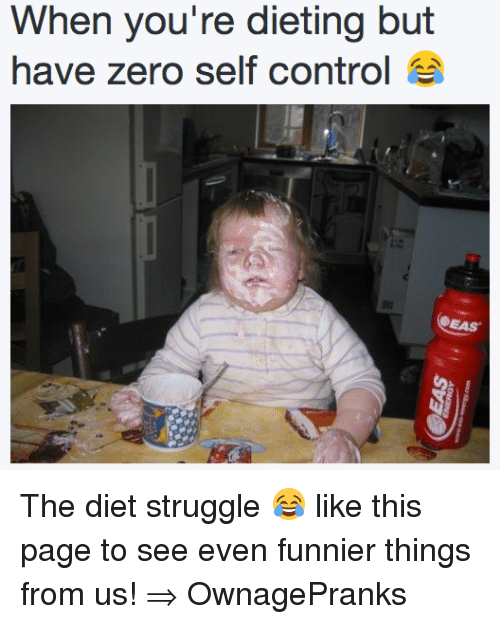 When You Re Dieting But Have Zero Self Control The Diet Struggle Like This Page To See Even Funnier Things From Us Ownagepranks Dieting Meme On Me Me